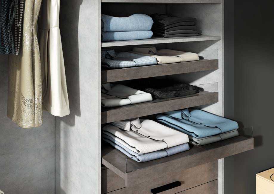 awesome tablette anglaise pour dressing dcor bton with porte extensible sur mesure. Black Bedroom Furniture Sets. Home Design Ideas
