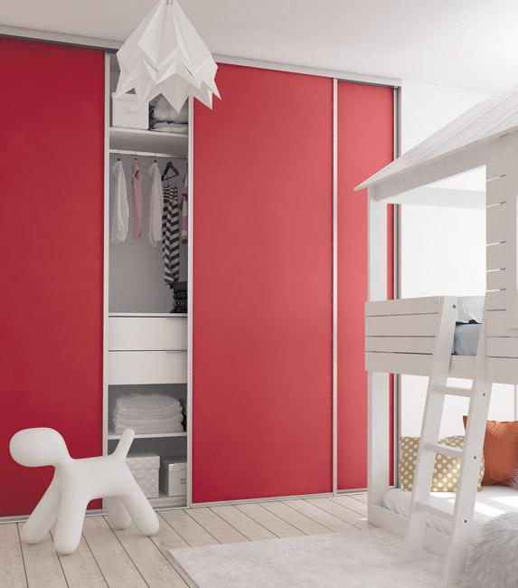 chambre enfant décor rouge