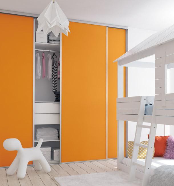 Chambre enfant décor orange