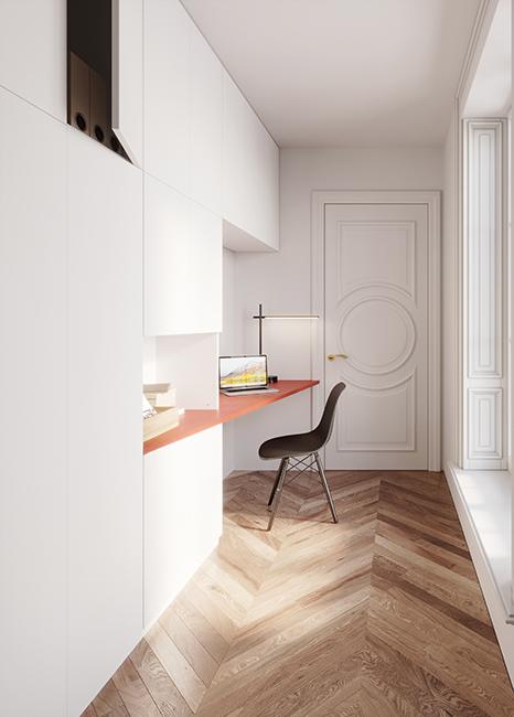 Sur-mesure_Rangement_avec_bureau_blanc_premium_terracotta