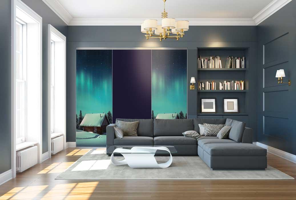 Collection Nature - Modèle Chalet et bleu sombre