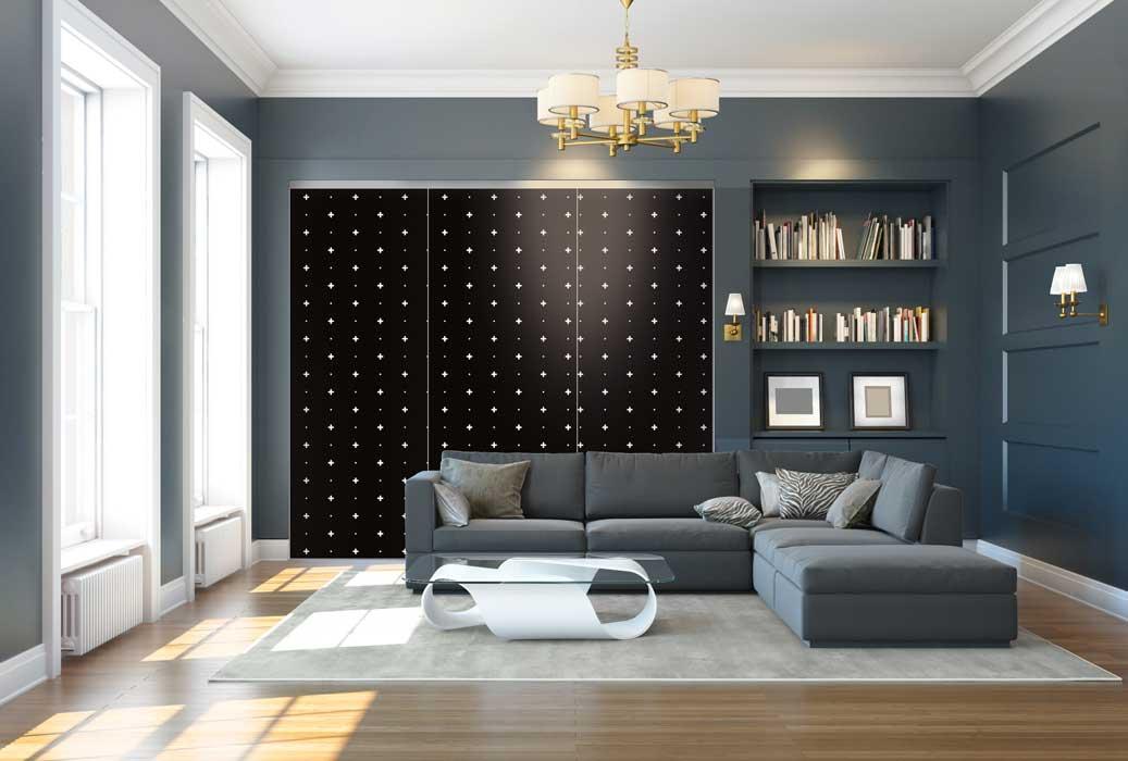 Collection Design - Modèle Croix noir<br>Modèle disponible dans tous les coloris des collections Tendance et Basique