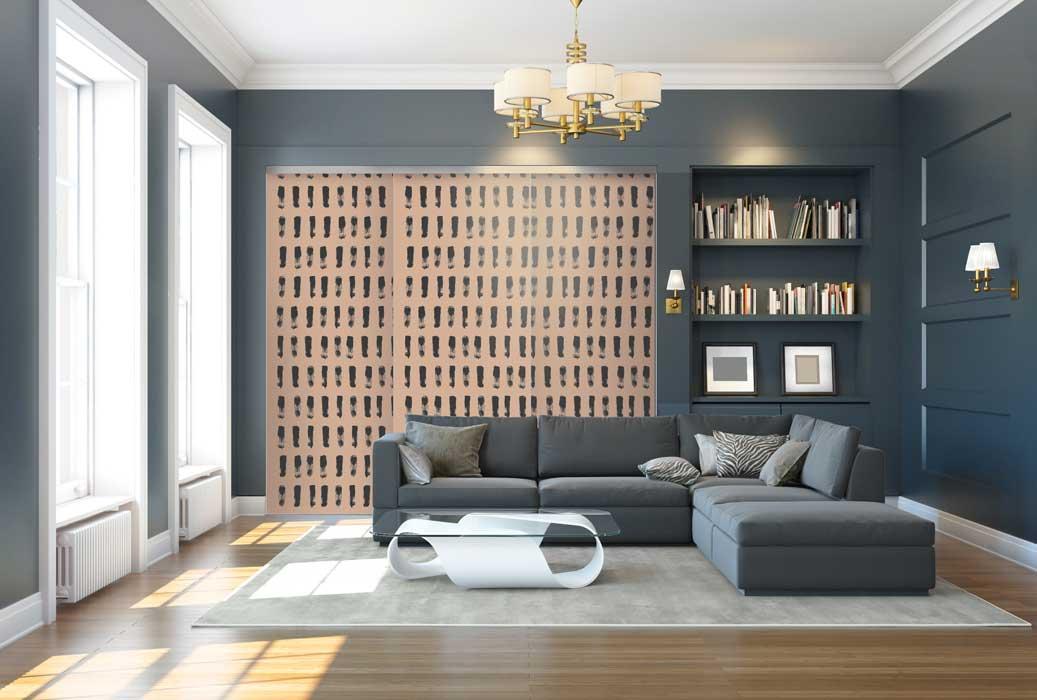 Collection Design - Modèle Empreintes brun<br>Modèle disponible dans tous les coloris des collections Tendance et Basique