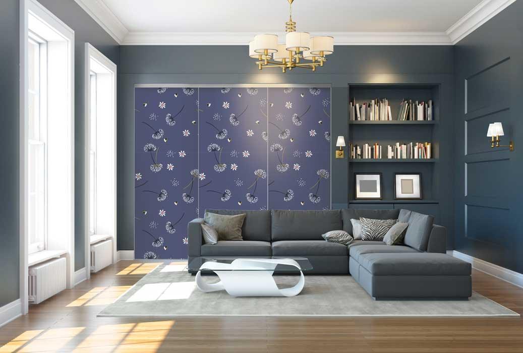 Collection Florale - Modèle Pissenlit bleu