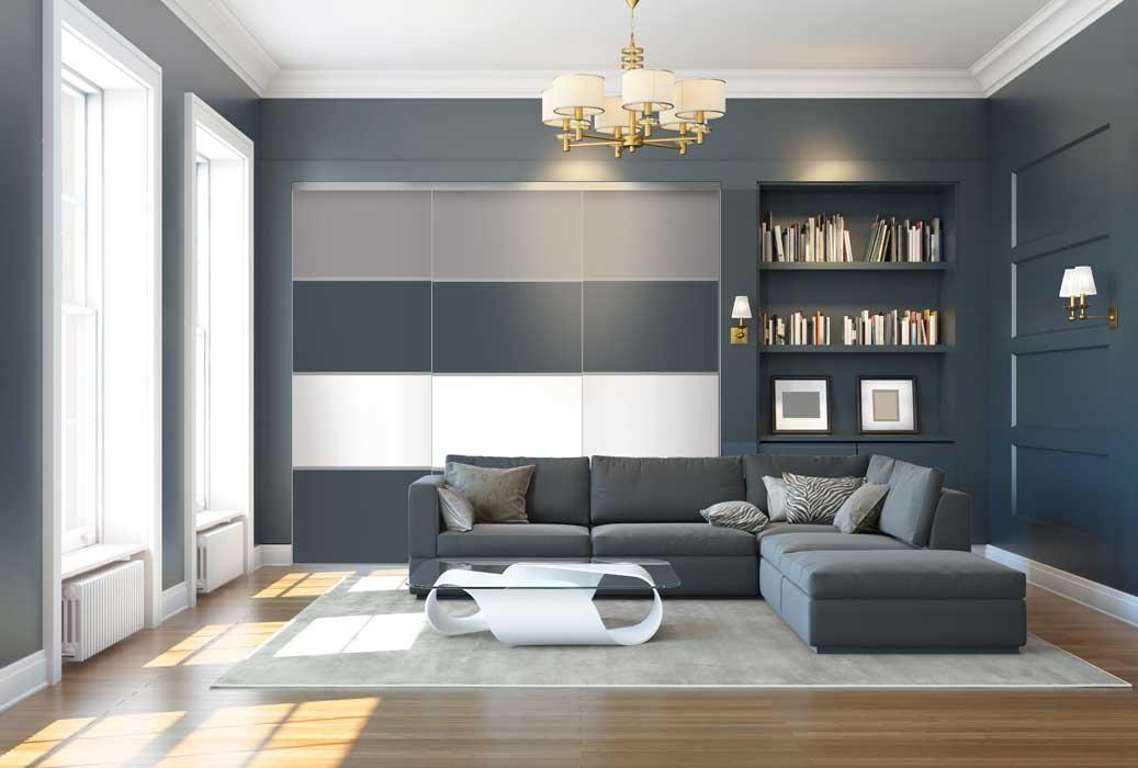 Collection Sillage - Modèle Quadro gris charbon, blanc et gris souris