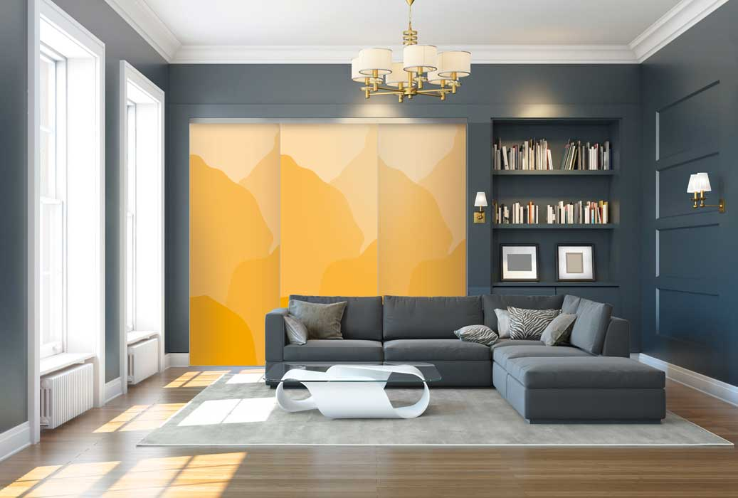 Collection Design - Modèle Reflets jaune épice<br>Modèle disponible dans tous les coloris des collections Tendance et Basique