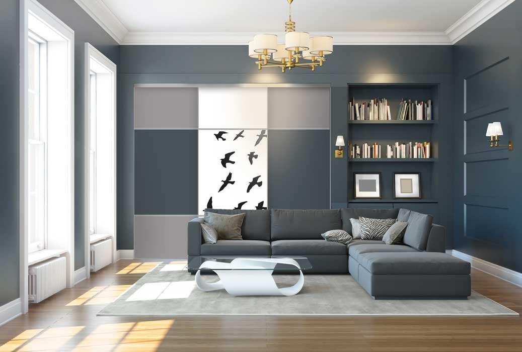Collection Sillage - Modèle Trio 1-2-1 envol, gris charbon et gris souris