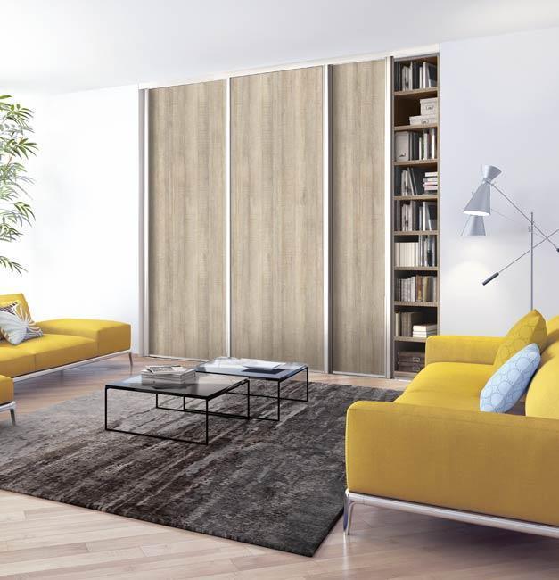 Porte de placard décor chêne gris