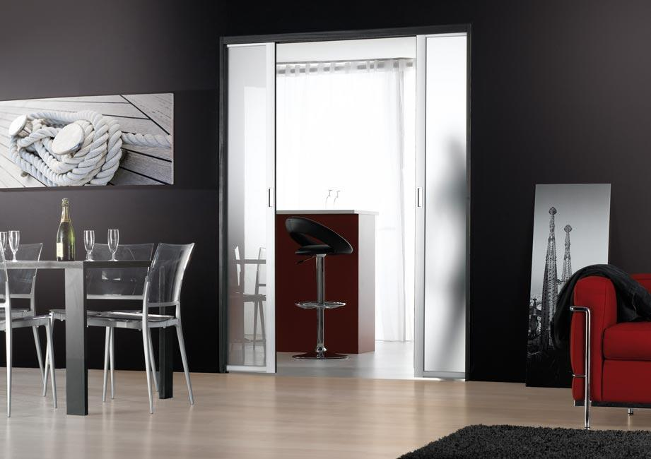 portes de s paration de pi ces coulissantes sur mesure. Black Bedroom Furniture Sets. Home Design Ideas